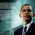 What democracy demands of religious values ~ Obama quote